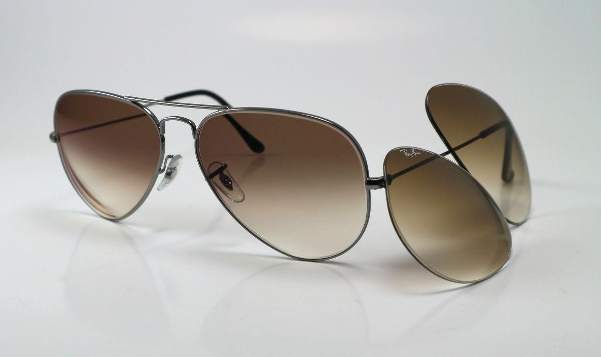Ray-Ban zonnebril met bruine dégrade glazen op sterkte